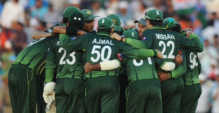 The Pakistan team looked a satisfied contingent, especially after the smashing start that India had. (Getty Images)