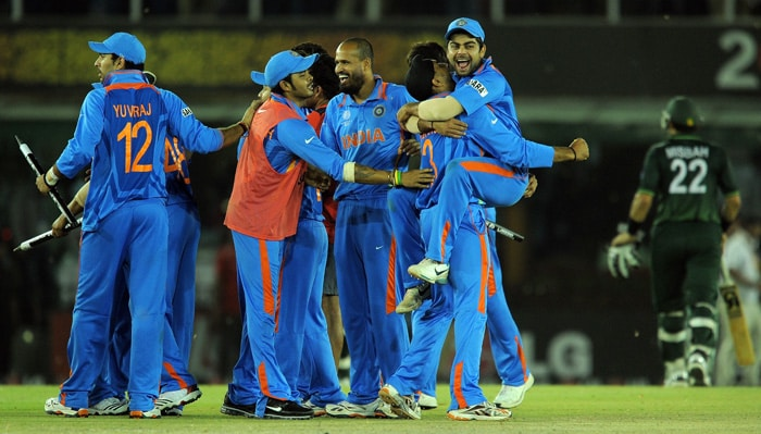 India beat Pakistan by 29 runs to hand them a place in the World Cup Final against Sri Lanka. (AFP Photo)