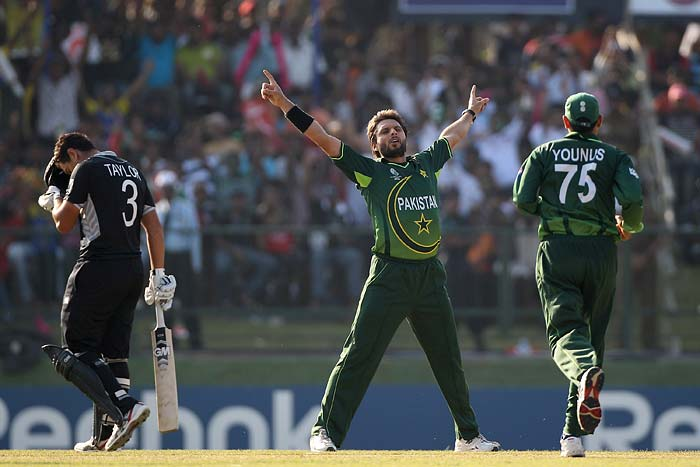 Shahid Afridi: The skipper was bound to make it to this list. Leading wicket taker in the tournament with 21, Afridi's rather silent bat has been overshadowed by his spin. Boom boom Afridi though can unleash his batting fury in a crunch game as well. <b>Last World Cup match against India: 9 runs and 1 wicket</b> (Getty Images)