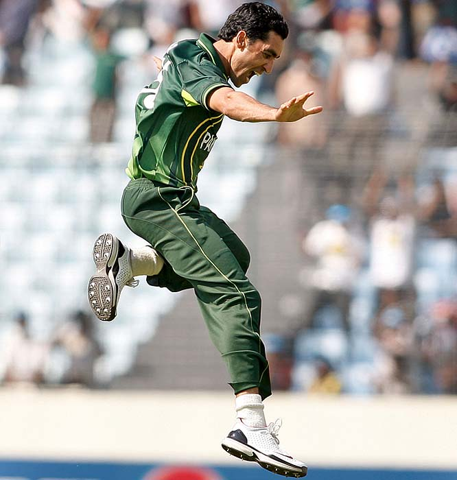 Umar Gul: The opposition thus far has not had a clue on how to deal with his clever pace. Gul has not let the absence of Shoaib Akhtar hurt the pace battery of Pakistan and can inflict early blows, too massive to recover from. <b>Last World Cup match against India: Did not play</b> (Getty Images)
