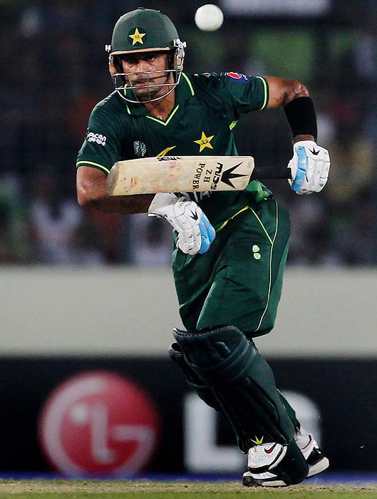Mohammad Hafeez: The opening pair has not been too strong for Pakistan but Hafeez managed to strike a confident 64-ball 61 against West Indies in the quarter final. He has the ability to take over from where he left off in that match. <b>Last World Cup match against India: Did not play</b> (Getty Images)