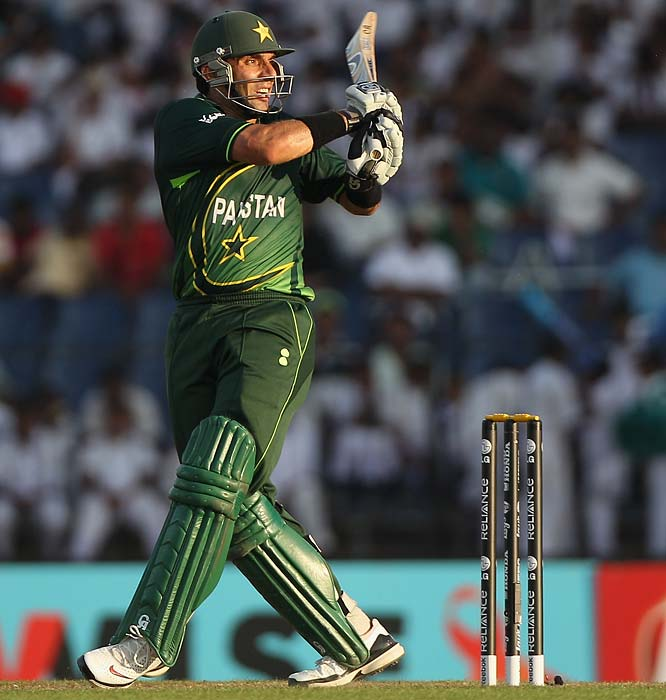 Misbah ul Haq: His dropped catch gave India the T20 World Cup in 2007. With 192 runs in seven matches and a strike rate of 73, he will look to take revenge against a relatively similar Indian side. <b>Last World Cup match against India: Did not play</b> (Getty Images)