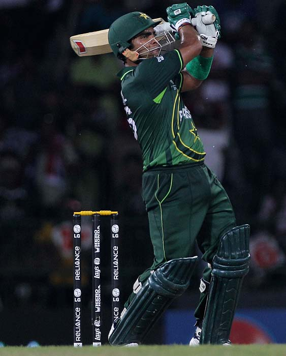 Umar Akmal: Has been one of the most consistent players for Pakistan in the tournament. With an average of 52 from six matches, Akmal's reputation as an excellent finisher can spell doom for the hosts if the 26-year-old is not contained in time. <b>Last World Cup match against India: Did not play</b> (Getty Images)