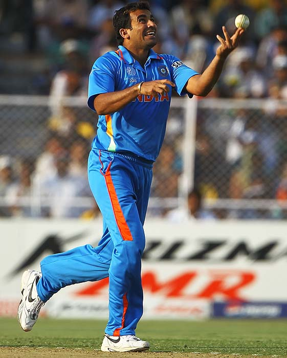 Zaheer Khan: Is the leading wicket-taker for India in this tournament with 17. His reputation as a formidable pacer is only shadowed by his menacing ability to provide breakthroughs. A powerful force to reckon with once India takes the field. <b>Last World Cup match against Pakistan: 2 wickets</b> (Getty Images)