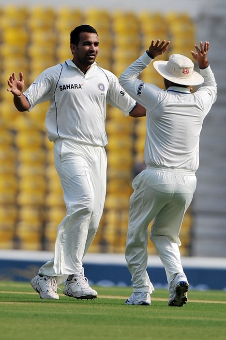 Zaheer Khan was the pick of the bowlers for India as he provided two breakthroughs early on to give India an early advantage. Zaheer scalped Graeme Smith and Ashwell Prince to reduce South Africa to 6/2. However, Kallis and Amla scored unbeaten centuries to bail their team out of trouble. (AFP Photo)