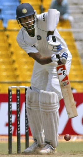 VVS Laxman looked fluent during his 35 but Morne Morkel got him to edge one behind. Replays showed it was a 50-50 decision.