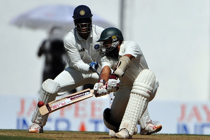 South African cricketer Hashim Amla proved to be India's nemesis as he spanked the Indian bowlers all around the park as he scored his highest Test innings score of 253*. Here, he is seen hitting a reverse sweep. (AFP Photo)