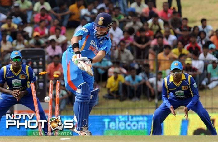 It was an early setback for India as Gautam Gambhir fell to Nuwan Kulasekara with just seven runs on the board.
