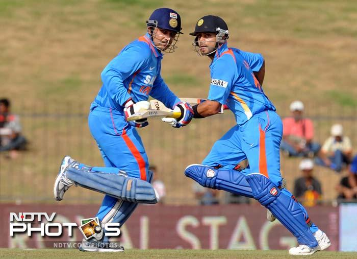 However Sri Lanka's joy would be shortlived as Virender Sehwag and Virat Kohli put on 173 runs for the second wicket to give India the platform for a big total.
