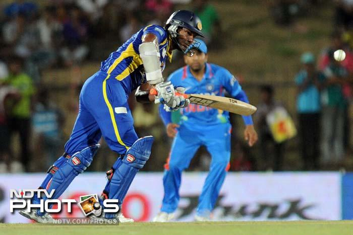 Kumar Sangakkara played a lone hand as he smashed 133 runs with fluency and elegance to keep the Indians at bay.