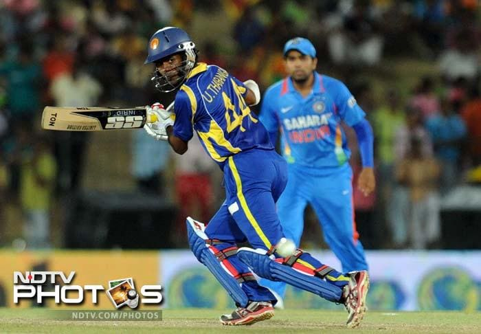 Upul Tharanga gave Sangakkara good support but could not convert his start into a big score as Ashwin accounted for him.