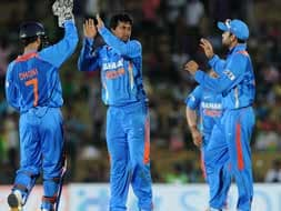 India beat Sri Lanka by 21 runs in the first ODI