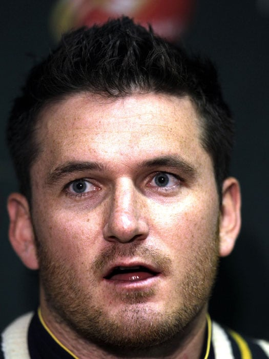 South Africa's captain Graeme Smith speaks during a post match media conference, ahead of their Test match against India at the SuperSport Park in Centurion. (AP Photo)