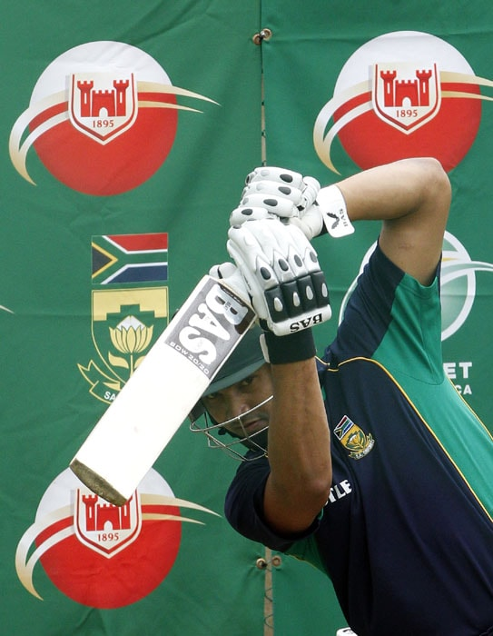 South Africa's Alviro Petersen bats during the net practice at the SuperSport Park in Centurion, South Africa, ahead of their Test match against India. (AP Photo)