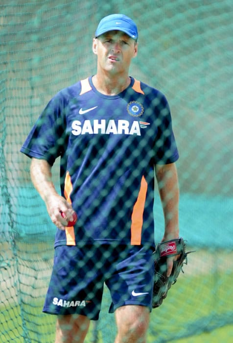 Indian cricket couch Gary Kirsten during the team's first training session at Super Sport Park, Centurion. (AP Photo)