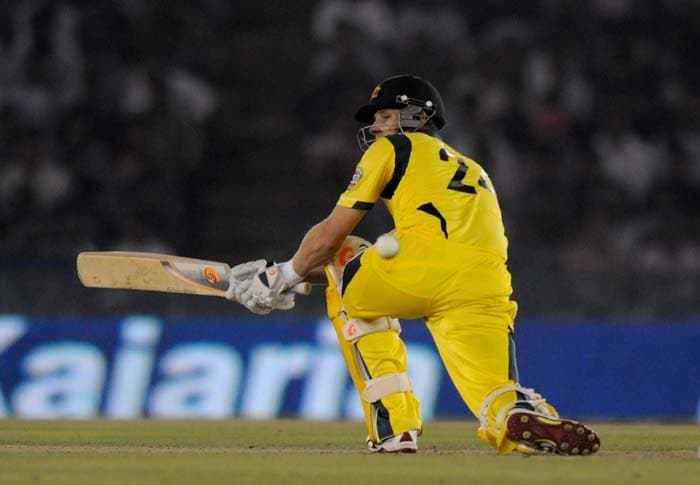 Adam Voges though started slowly but remained calmed even when the run rate was climbing. He scored an unbeaten 76 off 88 balls and involved in a 91-run stand with James Faulkner for the seventh wicket.