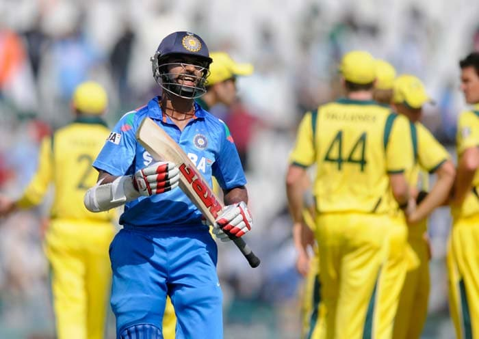 Put in to bat, India were off to a poor start as both their openers Shikhar Dhawan and Rohit Sharma departed early. Dhawan scored just 8 while last match's centurion Rohit hit 11. (All BCCI images)