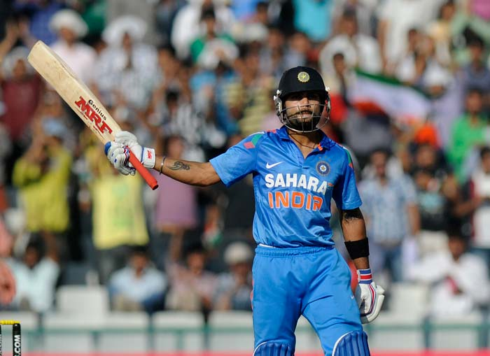 Virat Kohli continued with his good form to notch up his 26th fifty. Kohli scored 68.