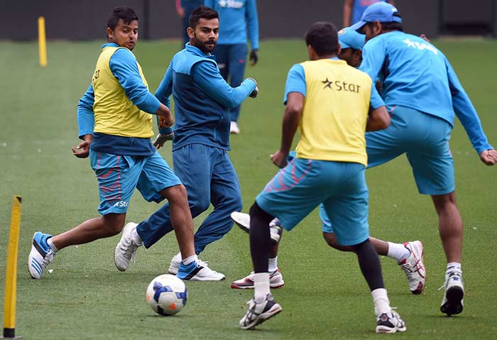 World Cup: Team India Bond Over Football Ahead of Quarter-Final | cricket | Photo Gallery