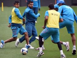 Photo : World Cup: Team India Bond Over Football Ahead of Quarter-Final