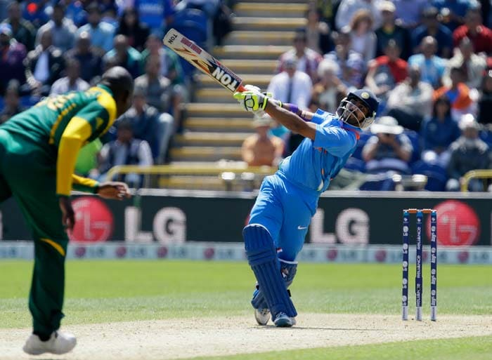 Ravindra Jadeja's late burst of 47 not out from 29 balls boosted India to 331/7.