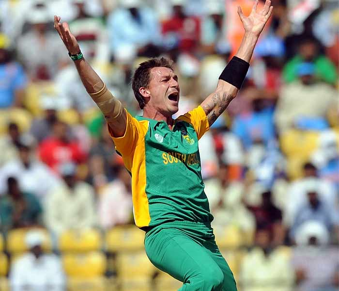 South Africa bowler Dale Steyn appeals unsuccessfully for a Leg Before Wicket. (AFP Photo)