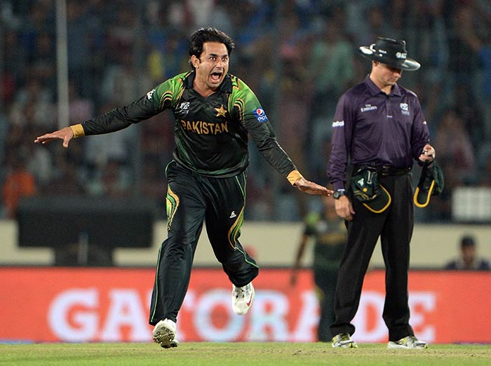 The final nail in the coffin for Australia came when Saeed Ajmal cleaned up Aaron Finch for 65 (54).