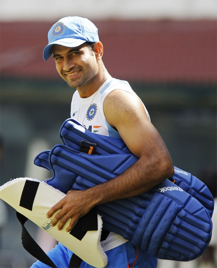 Making a return to the Indian squad after almost two years, Irfan Pathan was seen practicing in the MA Chidambaram Stadium before the last ODI against West Indies in Chennai.
