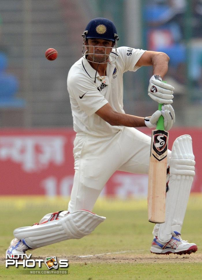 Rahul Dravid was at his usual best as he brought stability to the Indian innings. (AFP Photo)