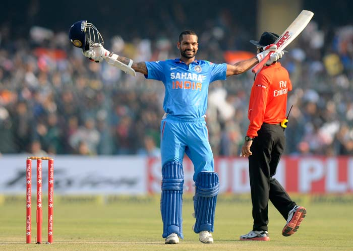 Shikhar Dhawan became the first batsman in the world to score five ODI centuries this year.