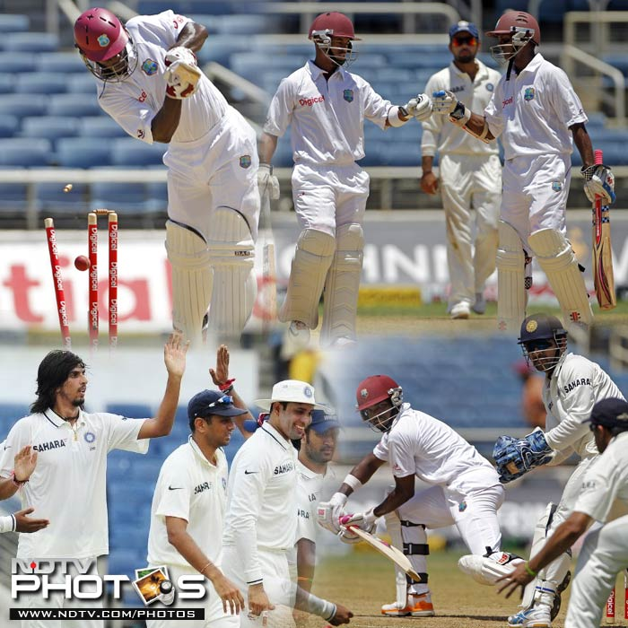 Sabina Park is known to be friendly to bowlers. Tuesday was no different. A look at some of the high-points of day 2 of the opening test between West Indies and India. (All images courtesy AFP and AP)