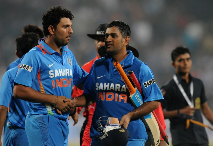 India beat England by 5 wickets to complete an easy victory against a side which might have rested on its laurels of Test success. Meanwhile, Yuvraj Singh dedicated the victory to the victim of the brutal gang rape. It was fitting on his part even as the victim recuperates. (Photo credit: BCCI)