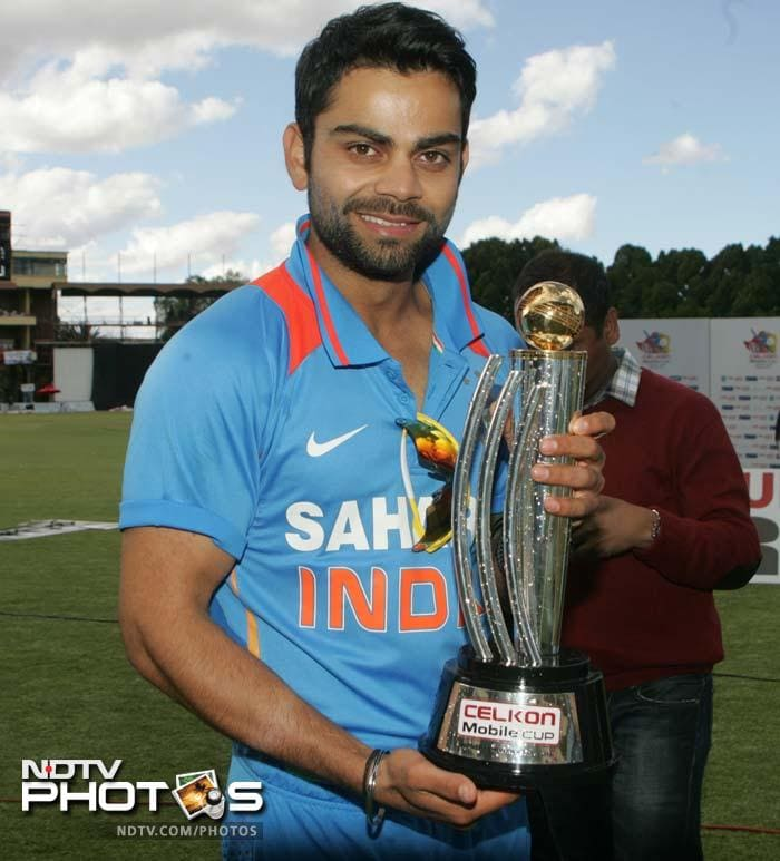 Virat Kohli led the team to 5-0 win over Zimbabwe. He credited MS Dhoni for his success.