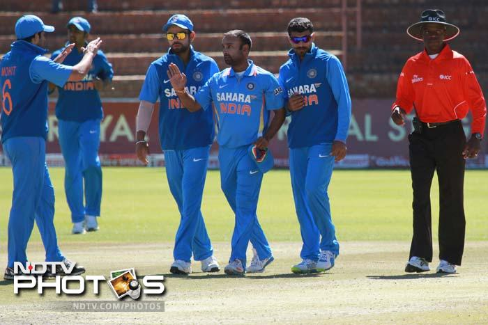 Amit Mishra's personal best of 6/48 in 8.5 overs today took his series tally to 18, equalling the record held by compatriot Javagal Srinath