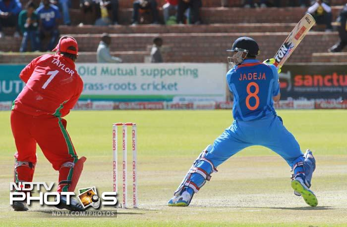 After Zimbabwe were all out for 163 in 39.5 overs, Shikhar Dhawan started off Indian innings in his style. He scored 41 before edging Kyle Jarvis to keeper.