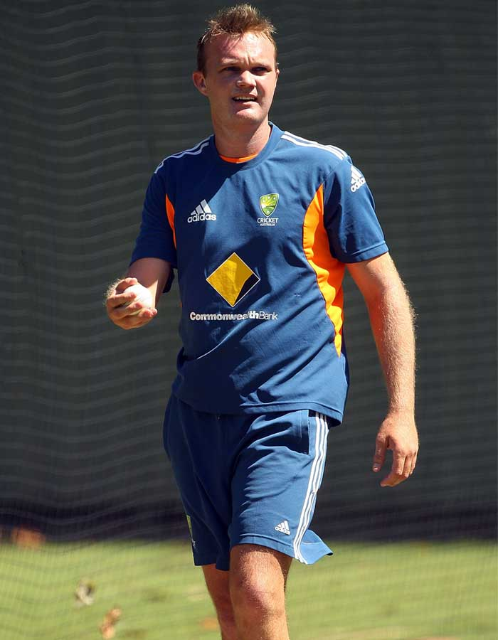 In an interview, Australia bowler Doug Bollinger said his side can win the World Cup. Australia though will have to do it without him as 'Dougie' was ruled out due to an injured left ankle. His replacement in Mike Hussey comes into the side after recovering from an injury himself. STATUS: OUT (Getty Images)