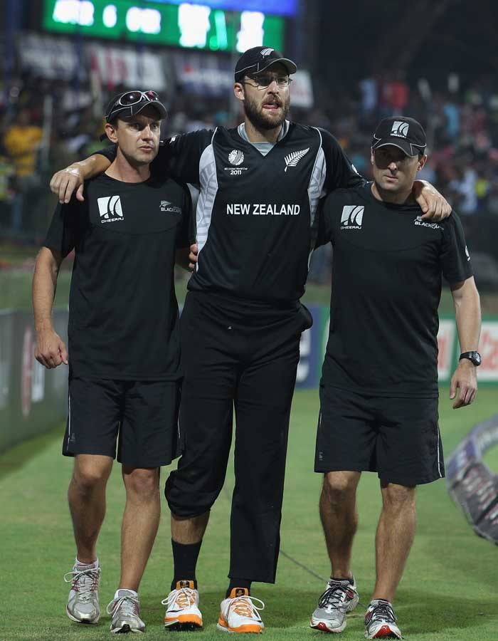 The Kiwi captain followed McCullum and underwent a knee scan due to an injury picked up in the match against Pakistan. Though the results are not yet in, Daniel Vettori's possible exit can come as a massive blow to his side. STATUS: IN (Getty Images)
