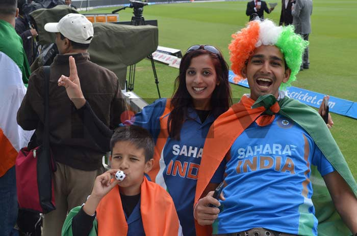 Indian fans were not to be left behind in the stakes for fun and games at The Oval. Watching Gayle, Dhoni, Bravo and Kohli play is surely a joy in itself.