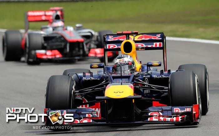 The dazzling performance from the two McLaren men left championship contenders, defending champion Sebastian Vettel of Red Bull down in fourth and his title rival, two-time champion Fernando Alonso of Ferrari, in eighth.