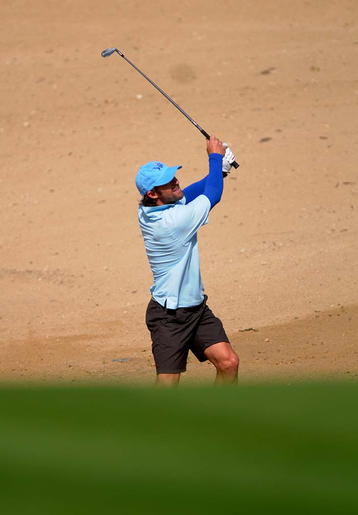 The former South Africa cricketer is an active sportsperson and his love interests also include surfing. In Dubai however, he created massive waves through his golfing skills. (BCCI photo)