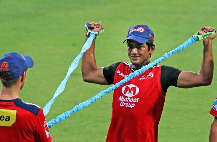 Unmukt chand seen practicing with his team mates. After all the most popular player will be the centre of attraction in this season of IPL