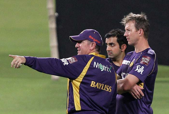 After missing out on domestic t20 tournament Gautam gambhir is all set to make a thrilling comeback in this season of IPL. Spotted with Lee and Bayliss Gautam Gambhir prepares himself for the first match against Delhi on 3rd of april