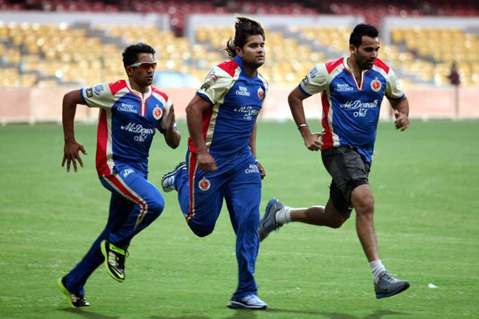 RCB boys having a quick run before getting into grlling practice session...