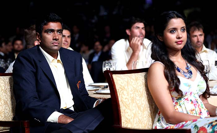 Chennai Super Kings' R Ashwin is seen here with his wife Preethi Narayanan at the private dinner organised before the start of IPL 7.(BCCI image)
