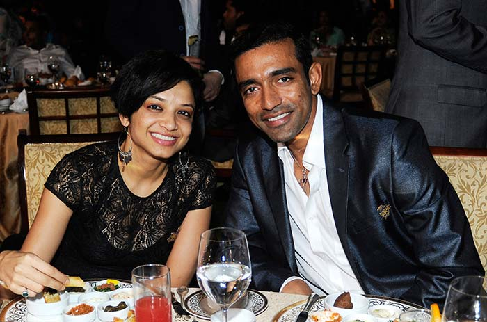 Also at the private dinner was Kolkata Knight Riders' Robin Uthappa with his better half. (BCCI image)