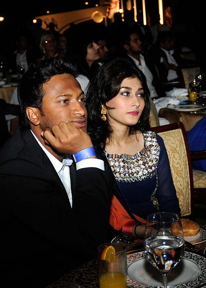 And the fourth! <br><br> Shakib-Al-Hasan is soaking up the IPL fun with his wife Ummey Ahmed Shishir whom he married last year. (BCCI image)