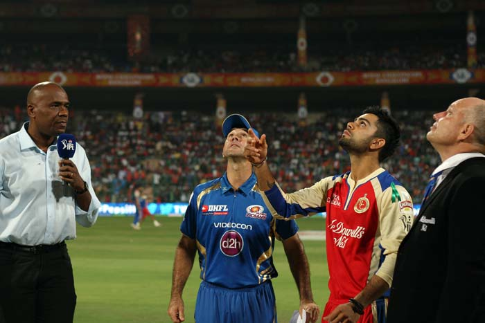 Mumbai Indians took a cue, perhaps, from Kolkata and opted to field against Bangalore. The result this time though was not in the favour of the team winning the toss.<br><BR> The visitors fought hard but lost the match by 2 runs. (BCCI image)