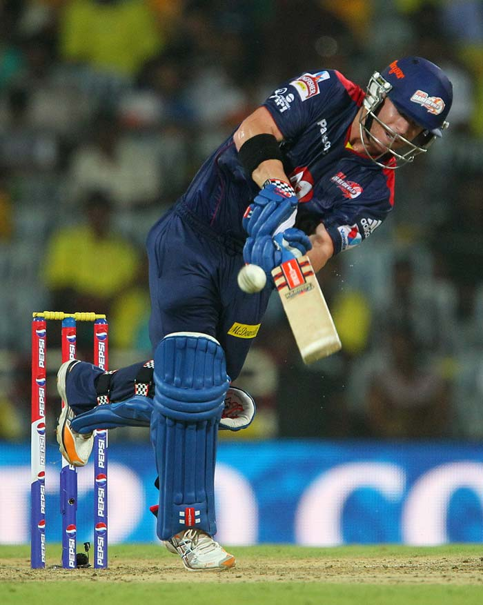 David Warner fought till the end with 44 runs to his name. (BCCI Image)