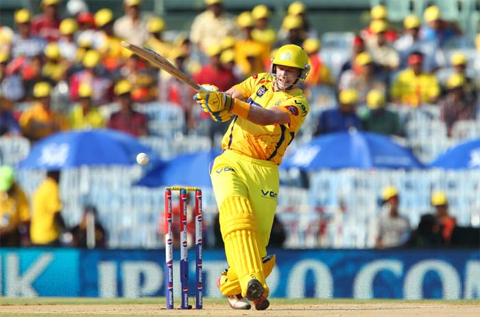 Michael Hussey lead the way with an explosive 95 from 59 balls. (Image Credit BCCI)