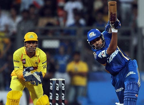 He might have been out of favour in the Indian team, but Rohit Sharma proved he is one talent that must not be wasted. In the match against the Chennai Super Kings, the Mumbai Indians lost their openers R Sathish and Sachin Tendulkar for just 13 runs. Rohit then came on to the field and joined Ambati Rayudu for a 61-run stand. After Ambati's dismissal, Rohit was joined by Andrew Symonds. The duo accelerated the scoring rate and took Mumbai to a total of 164 runs. Sharma scored a 48-ball 87 runs with the help of eight fours and five sixes.